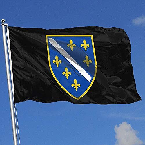 Elaine-Shop Outdoor Flags COA der Republik Bosnien und Herzegowina 4 * 6 Ft Flagge für Wohnkultur Sport Fan Fußball Basketball Baseball Hockey