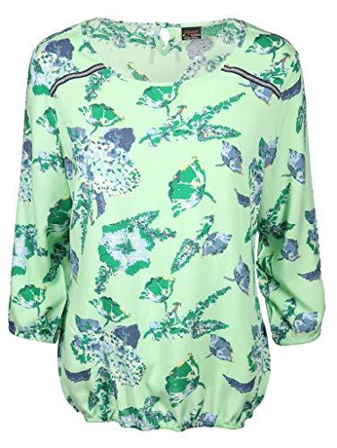 s'questo Damen Bluse Größe 40 EU Grün (grün)