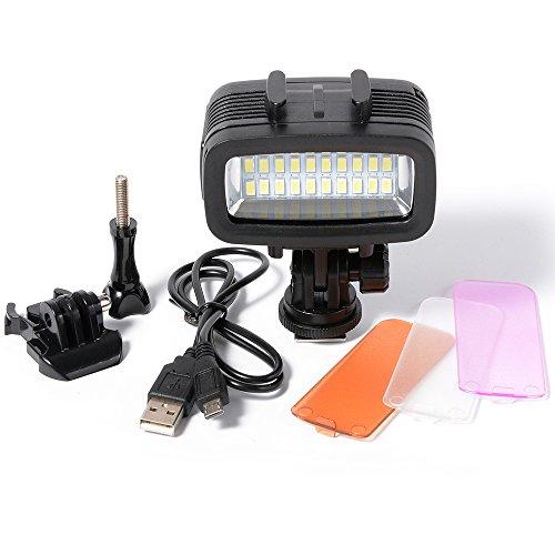 XCSOURCE® Underwater 40M impermeable LED de buceo de vídeo de luz 20 LED 700LM Para GoPro Hero 3/4 deporte cámaras DSLR LD729