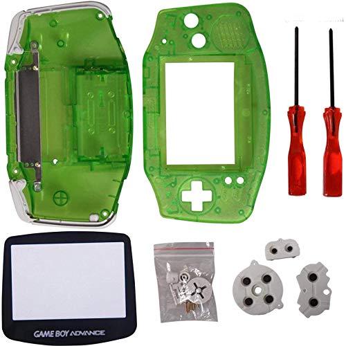 Timorn Ersatz Gehäuse Shell Pack mit Schraubenzieher für Gameboy Advance GBA Controller (Transparent grün)