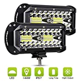 2pcs Foco Led Tractor, 7' 240W 24000LM Super Bright y Potentes Faros...