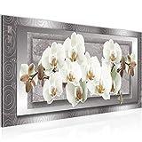 Tableau decoration murale Fleurs d'orchidée - XXL Impression sur Toile Salon Appartment 1 Parties - prêt à accrocher - 205412b