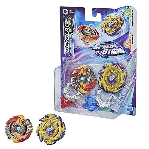 BEYBLADE Burst Surge Speedstorm Spear Valtryek V6 and Regulus R6 Spinning Top Dual Pack -- 2 Battling Game Top Toy for Kids Ages 8 and Up