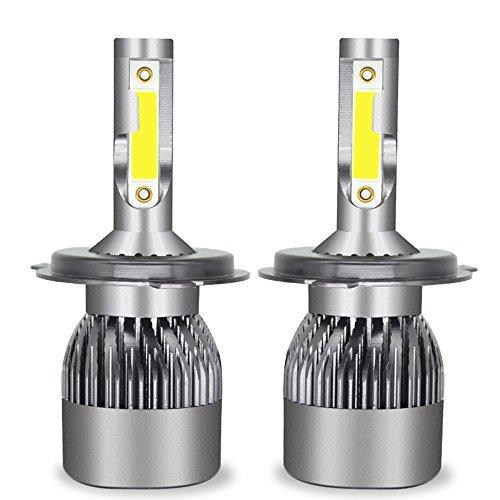 Ampoule De Phare LED Tout-En-Un Kit De Conversion-H1, H4, H7, H11, 9005, 9012-3200LM 6000K Cool White 360 Degré D'éclairage Pour Remplacement De Lampe De Voiture,H4