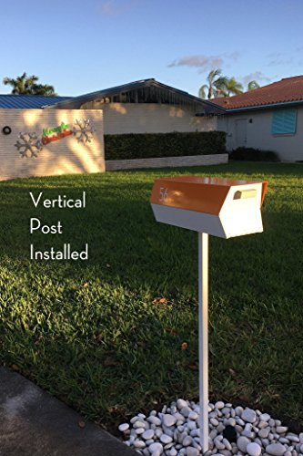 modbox USA Modern Mailbox Post (Vertical | White)