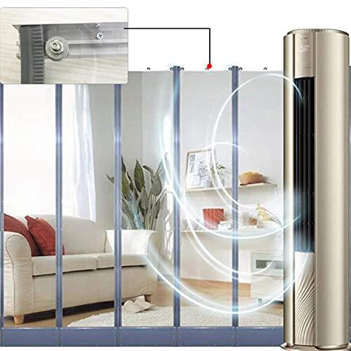 MAHFEI Magnétique De Porte, Isolant Thermique Isolation Porte PVC Transparent Feuille Insonorisée Garder Au Chaud Panneaux Coupe-Vent Porte Auto-amorçante pour Le Magasin Chambres Climatisées