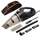ANTEQI Car Vacuum Cleaner, DC 12 Volt 106W 3 in 1 Multifunction 3.0 KPA Cyclonic Wet/Dry Auto Portable Vacuums Cleaner Dust Buster Hand Vacuum with [ HEPA Filter, 14.7 FT Power Cord, Portable Bag ]