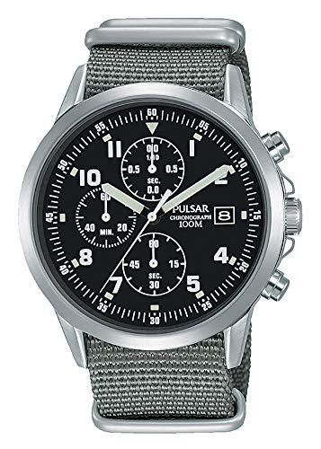 Pulsar Herren-Armbanduhr, Militär-Stil, Chronograph, PM3129X1, formell und verbessert, PJN305X1