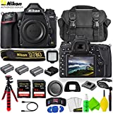 Nikon D780 DSLR Camera (Body Only) 1618 with 2 Extra Batteries + Large Case + 2 Sandisk Extreme Pro 64GB Card + LED Light + 12' Flex Tripod + Lens Cleaning Set + More