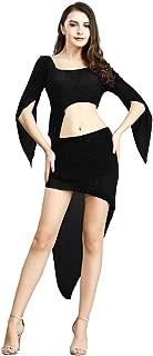 ROYAL SMEELA Bauchtanz Tops und Rock Kostüm Anzug Asymmetrisches Tanzrock Oberteil mit Gamaschen Ausbildung Performance Tanzkleid Sets Einheitsgröße