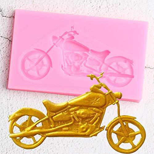 WYNYX 3D Motorrad Silikonform Kuchen Backformen Diybaby Geburtstagstorte Dekorationswerkzeuge Candy Clay Schokoladen Gumpaste Form