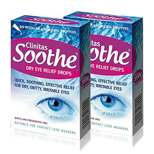 Clinitas Soothe Lubricant Eye Drops x 2