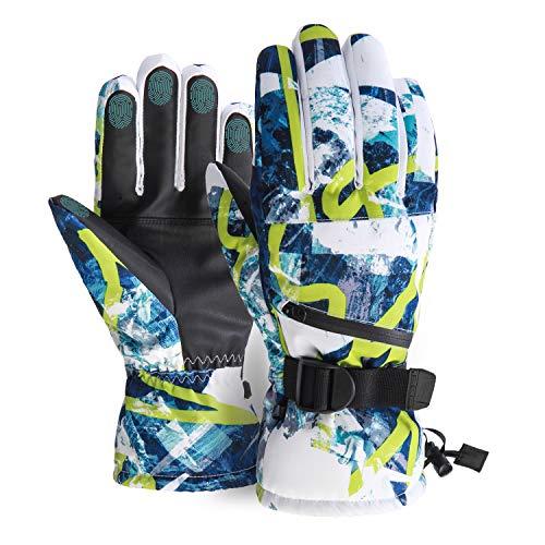 Ski Gloves, Waterproof Snow Gloves -30℉ Winter Gloves for Cold Weather Touchscreen Snowboard Gloves Warm for Men Women (Blue, Medium)