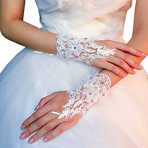 Gants de mariée mariage robes de soirée dentelle gants courts B05
