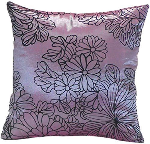 Jilibaba Funda de cojín decorativa para sofá, cama, coche, cuadrada, color morado
