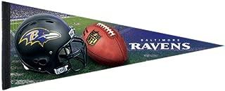 Bek Brands Football Teams Flag Banner Pennant, 12 x 30 in, Soft and Durable (Baltimore Ravens Helmet)