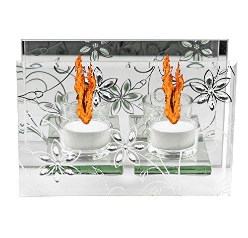 Teelichter Glas Dekoration Kamin Spiegel Teelichthalter Weihnachtsdekoration Party Licht Lampe Kerzenständer Kerze