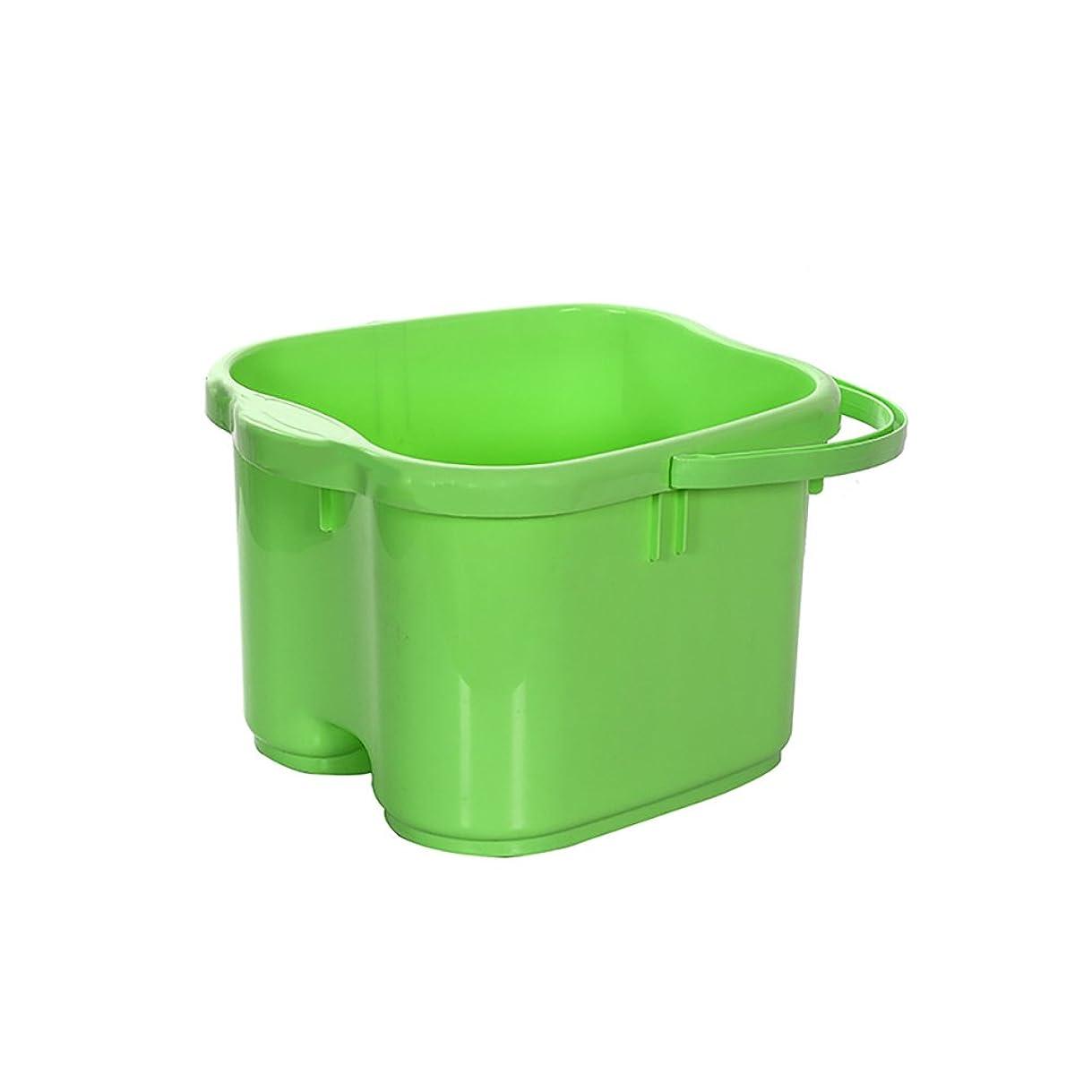 見る人輝く診療所厚いプラスチックポータブル13Lと足湯足バレルを高めるマッサージフットバスバレル足浴槽のホーム断熱材と足浴槽 (Color : Green)