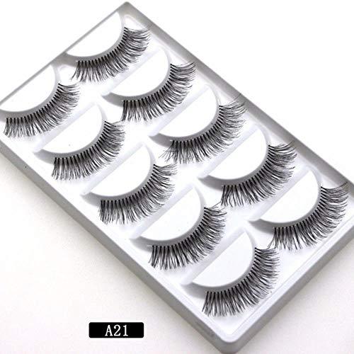 KADIS Naturel Long Noir Faux Cils Faux Cils Outils D'extension De Maquillage Professionnel Cils Individuels, 4