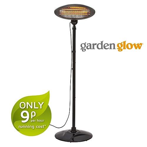 Sentik Indoor Outdoor Garden Quartz 2KW Electric Patio Heater Free Standing BBQ
