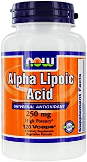 NOW Foods by Now Alpha Lipoic Acid Universal Antioxidant 250 mg-120 Vcaps
