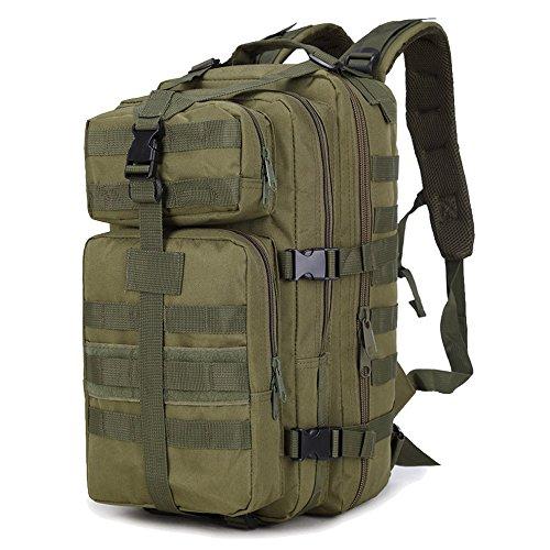 Sac à Dos Portable, Beetest® 35L grande capacité extérieur extensible militaire tactique sac à dos imperméable voyage randonnée Camping trekking escalade chasse sac d'ordinateur portable Army-vert