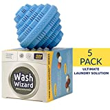 Wash Wizard - Laundry Ball - Top Rated Eco Friendly Washer Ball - Reusable for up to 1500 Washes - Chemical Free - Detergent Alternative & Replacement (5-Pack)