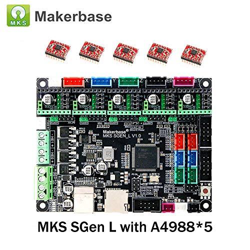 BZ 3D Controller Board Controles MKS SGen L V1.0 32 bits de placa base compatible Uart/SPI con MKS 3D Touch TFT28 / 32/35 pantalla táctil para impresora 3D.(Boars+A4988*5)