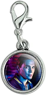 GRAPHICS & MORE Riverdale Archie Character Antiqued Bracelet Pendant Zipper Pull Charm with Lobster Clasp