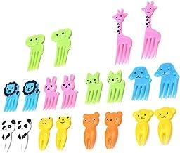 Xinjieda 10pcs Animal Fruit Fork Mini Cartoon Children Snack Cake Dessert Food Fruit Pick Toothpick Lunches Decor Random C...