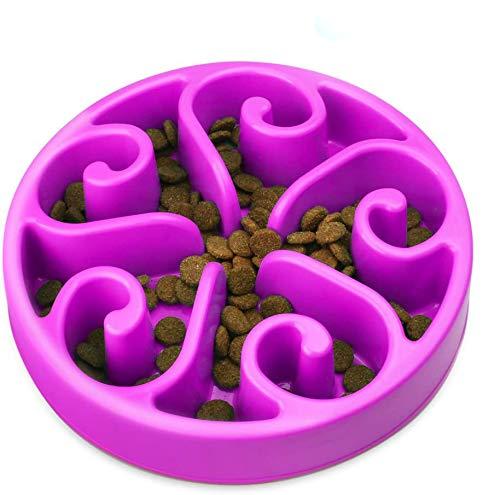 Zellar Comedero para Que Perros coman despacio - Alimentación Lenta + Interactivo + Freno a la hinchazón + Cuencos para Perros, se adaptan a Perros y Gatos pequeños, medianos