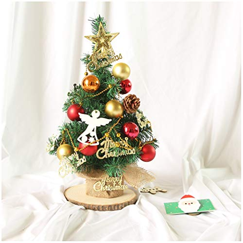 Christmas Tree Artificial Christmas Tree Mini Green Fir Tree Include Golden Stars Letters And Pine Cones Decoration Christmas And New Year Gifts (Color : B)