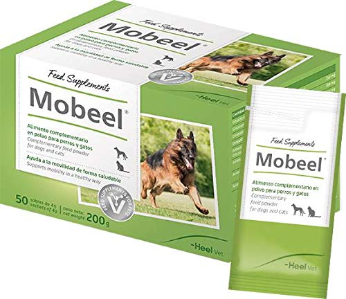 Mobeel Alimento complementario en polvo para perros y gatos - 50 Sobres de 4g (Total: 200 g)