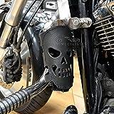 Motorrad Biker Custom Hinten Leder Becher Getränke Can Flaschenhalter mit Totenkopf Geschenk