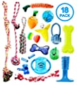 Pacific Pups Products supporting pacificpuprescue.com - 18 Piece Dog Toy Set with Dog Chew Toys, Rope Toys for Dogs, Plush Dog Toys and Dog Treat Dispenser Ball - Supports Non-Profit Dog Rescue