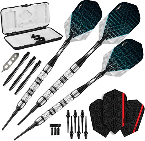 Viper Diamond 90% Tungsten Soft Tip Darts with Storage/Travel Case