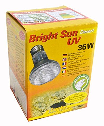 Lucky Reptile BSD-35 Bright Sun UV Desert, 35 W, Metalldampflampe für E27 Fassung mit UVA und UVB Strahlung (Vorschaltgerät erforderlich)