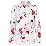 N\P Blusas de manga larga para mujer, talla grande, cuello vuelto, blusa casual