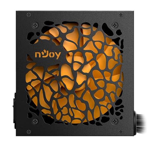 nJoy Theta - Fuente de alimentación ATX 550 W 80 + bronce para PC Gaming Ventilador 12 cm silencioso