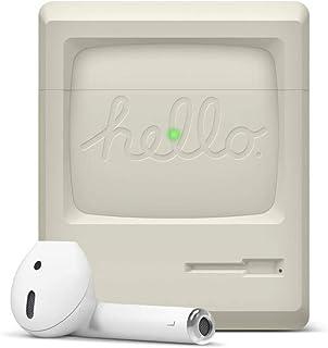 【elago】 AirPods 対応 ケース シリコン 製 カバー 耐衝撃 ノスタルジック レトロ デザイン 衝撃 吸収 傷防止 保護 アクセサリー [ Apple AirPods1 / AirPods2 Wireless Charging C...