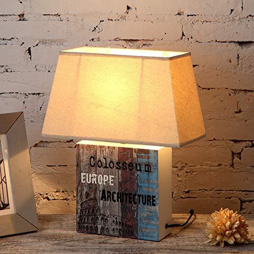 JFHGNJ lámpara de Mesa Lámpara de jardín Dormitorio Lámpara de mesilla IKEA Simple Country Retro Decoración Libro Lámpara Sala de Estar Estudio