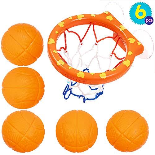 Juguetes 5 Balones Red Baloncesto Baño | Juguete