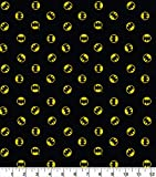 DC Batman Runder Logo-Stoff schwarz – 0,5 m Multiples –