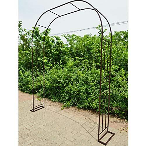 F-XW Metall Rosenbogen, Rankbogen Rosen, Torbogen für Kletterpflanzen, 180/220/260cm