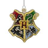 Hallmark Christmas Ornament Harry Potter Hogwarts Crest, Blown Glass