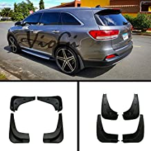 JYJ Set of 4 Front+Rear Splash Guards Mud Flaps Kit Compatible with 11-15 Kia Sportage