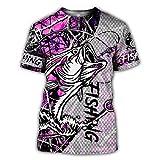 Streetwear Unisex Casual tee Tops Caza Animal Pesca Ciervos Jabalí 3D Impreso Camiseta Verano Mujeres Hombres Manga Corta Style 17 XXL