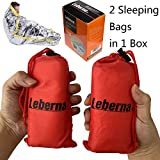 Leberna Thermal Emergency Sleeping Bag Mylar Survival Gear Foil Bivy Sack Shelter Supply | 3 x 7 FT 36'x84' Double Sided, All Weather Condition NASA Space Outdoors Camping Hiking Marathon First Aid