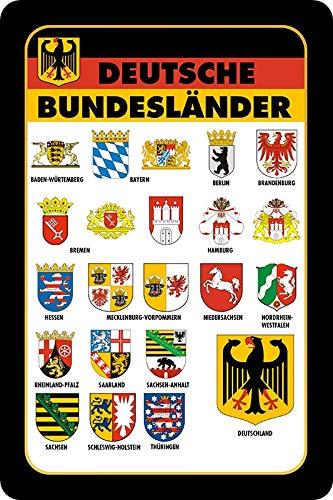 Metalen bord 20x30cm Duitse deelstaten vlaggen vlaggen metalen bord
