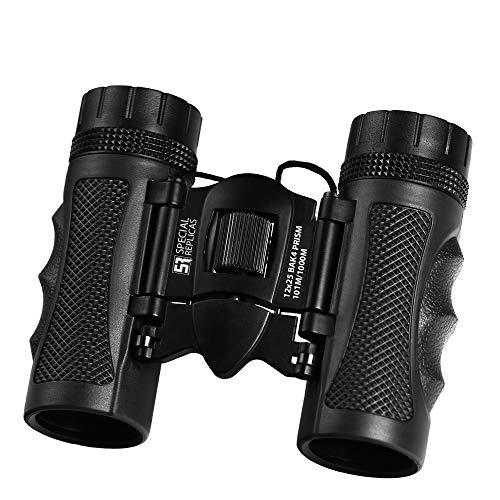 SPECIALREPLICAS 12x25 Kleines und kompaktes Fernglas im Taschenformat für Wandern, Vogelbeobachtung und Reise - Ideal für Erwachsene und Kinder mit BAK4